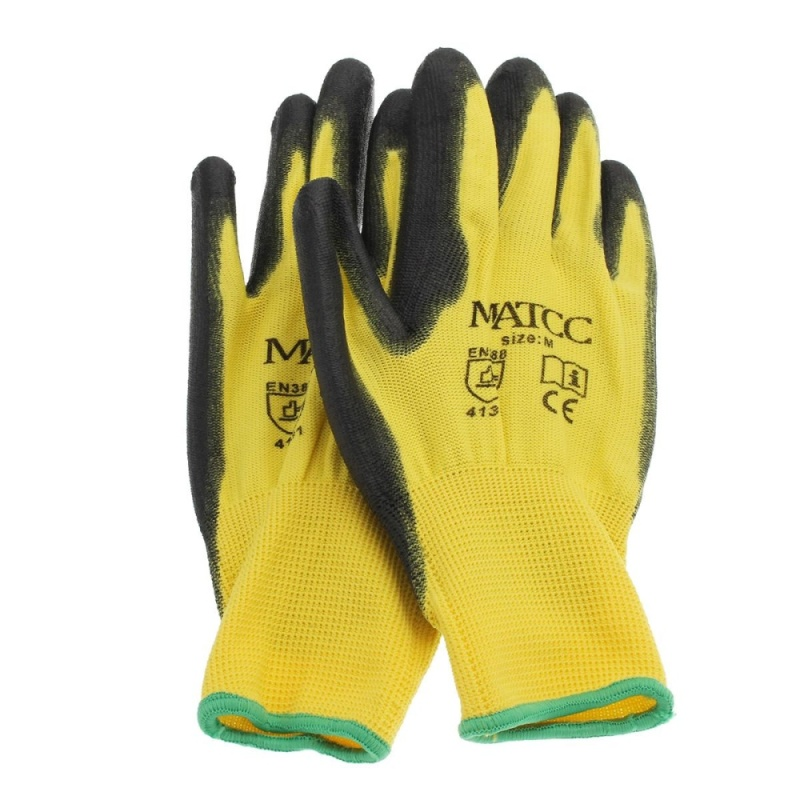 12 pair Hi Vis Cold Store / Freezer / Thermal Grip Safety Work Gloves (M) - intl