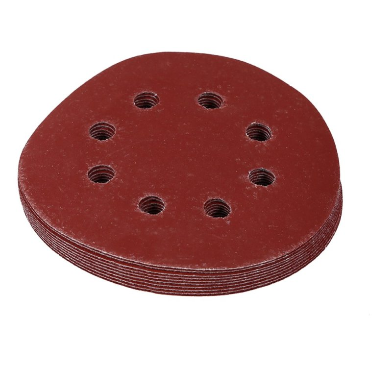 125mm Round Red Polishing Sanding Discs 8 Hole Grit Sand Papers(800#) - intl