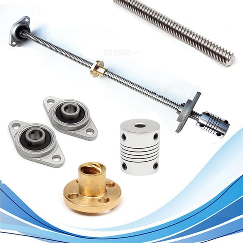 5Pcs 30cm T8 Lead Screw Rod W/ Nut + Bearing Block + Coupler 8mm x 300mm CNC Set - intl