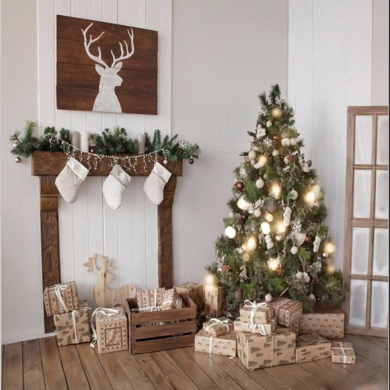 8X8FT Home Decor Theme Tree Gift Photography Background Backdrop Studio Prop - intl