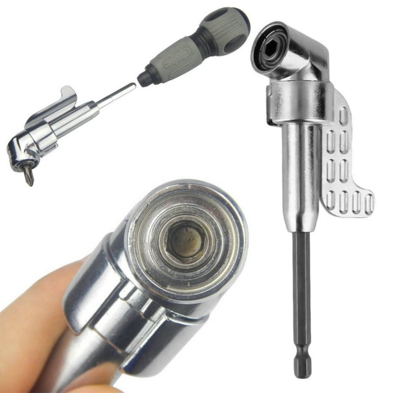 Adjustable Hexbit Angle Driver Electric Screwdriver Magnetic Bit Wrench Hex Bit Drive Offset Attachment - intl