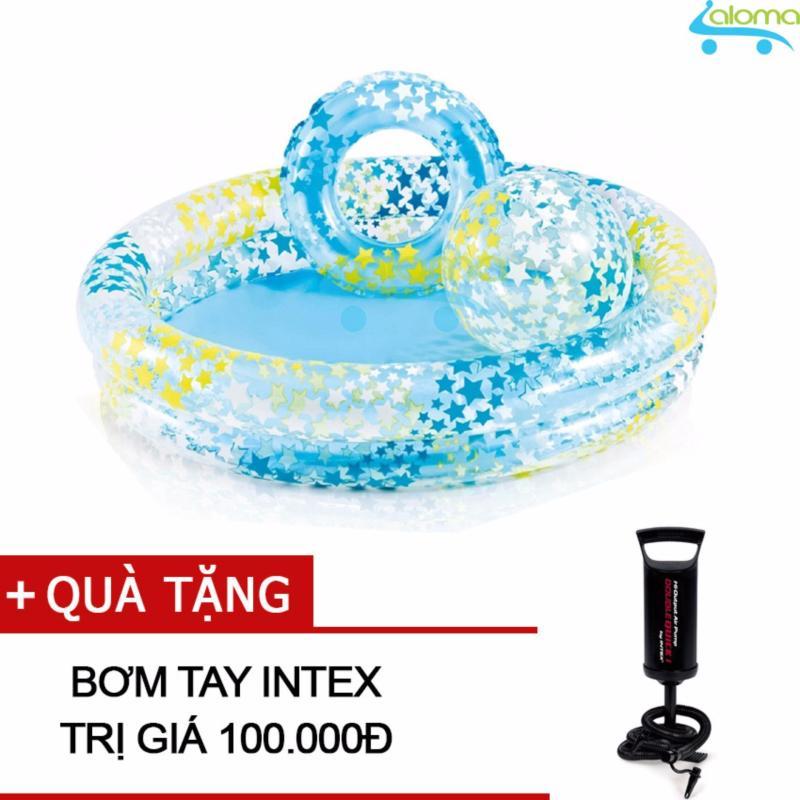 Bể bơi 1.2m kèm phao và bóng Intex 59460 tặng bơm tay