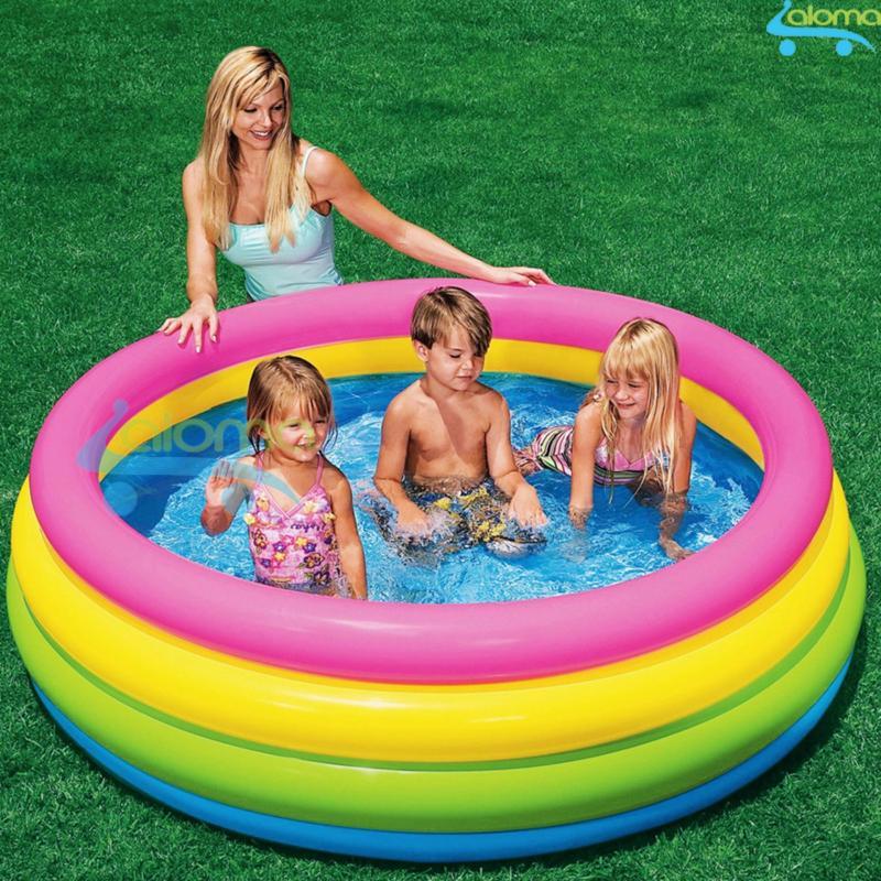 Bể bơi bơm hơi cầu vồng 4 tầng Intex 56441 (170x50cm)