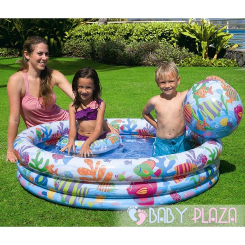 Bể Bơi Cho Bé(132*28) Kèm Phao-Bóng Hơi Lớn và 10 Banh Nhựa Nhỏ