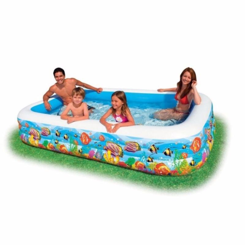 Bể bơi gia đình vuông cá 305x183x56