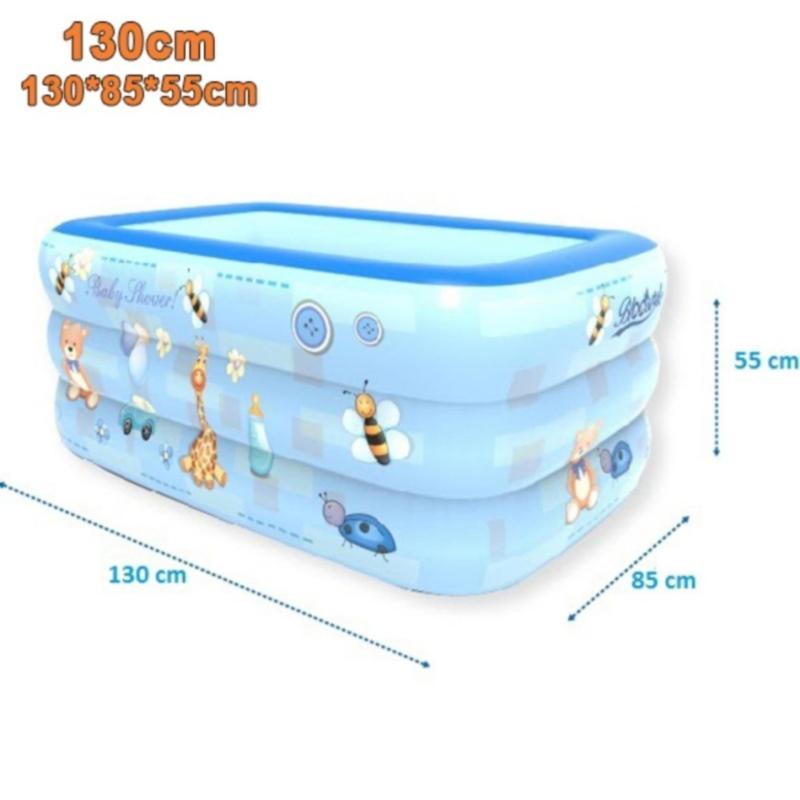 Bể bơi phao 3 tầng cho bé size 130x85x55cm - Mẫu mới 2017