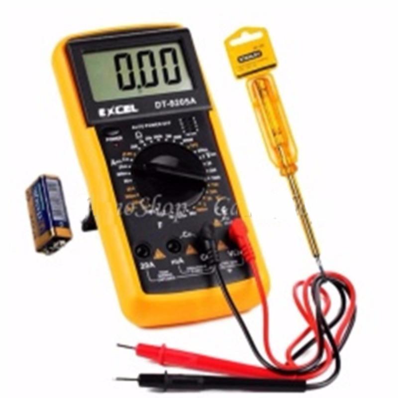Bộ 1 Đồng hồ đo vạn năng Excel DT9205A Kèm Pin và 1 bút thử điện