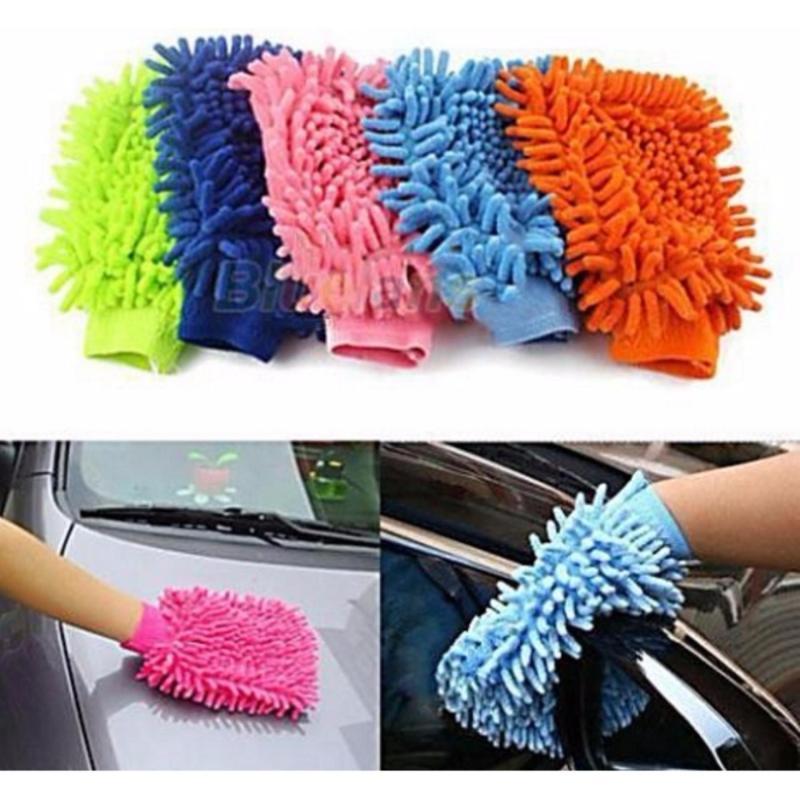 Bộ 2 găng tay lau rửa xe hơi chuyên dụng tiện lợi