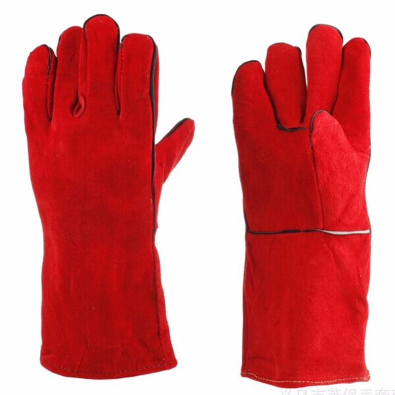 Bộ 5 Đôi Găng tay da hàn màu đỏ - loại dày