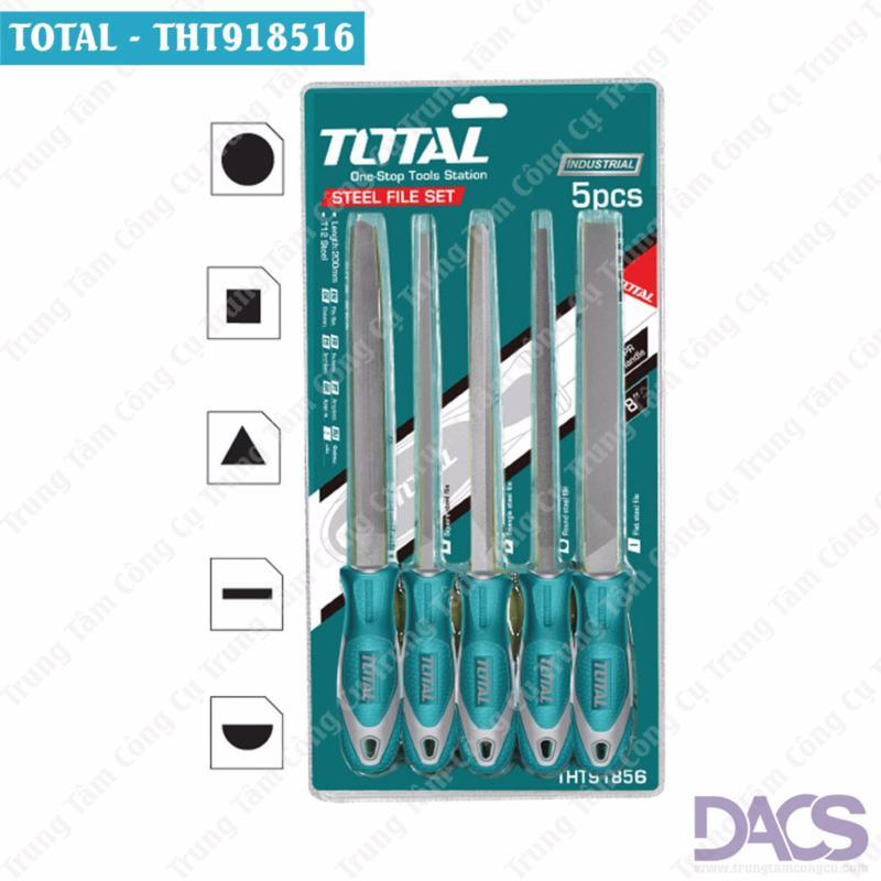 Bộ dũa 5 chi tiết 200mm Total THT918516