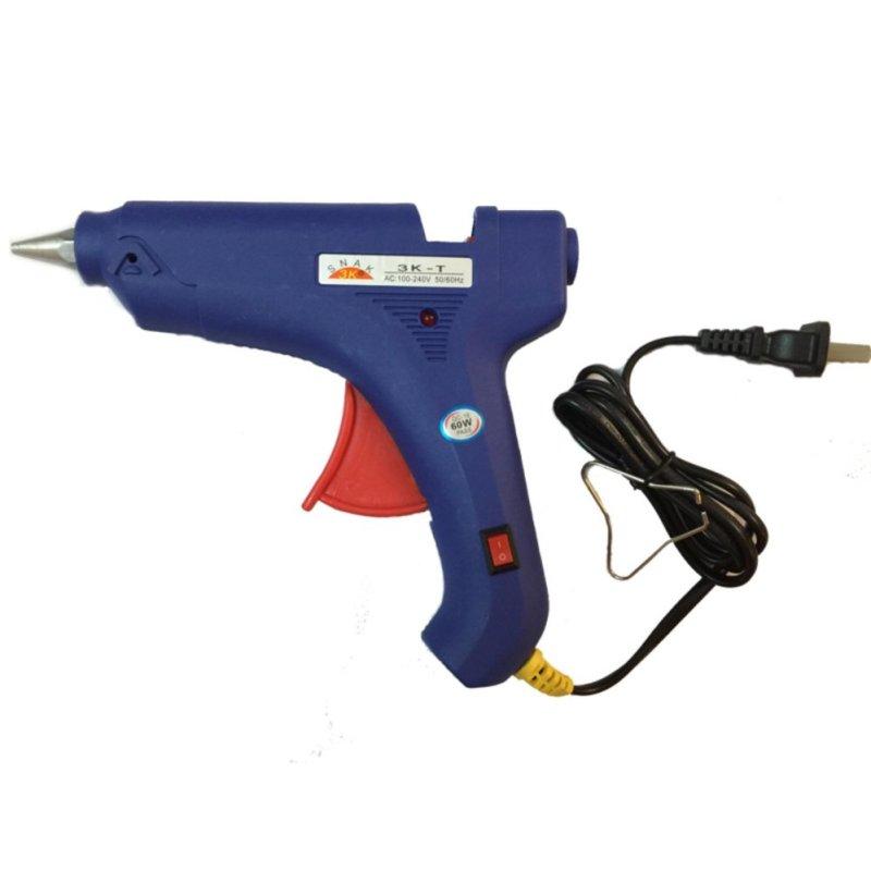 Bộ dụng cụ súng bắn keo loại to công suất 60W và 5 Cây Keo Trong - Hàng nhập khẩu