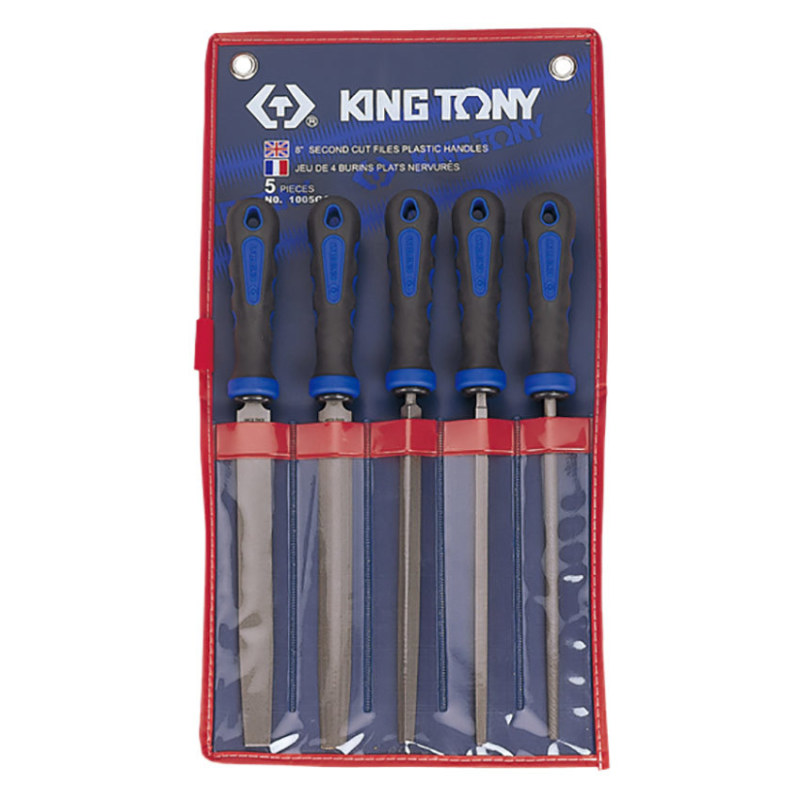 Bộ giũa 5 cây Kingtony 1005GQ 8inch (Xanh)