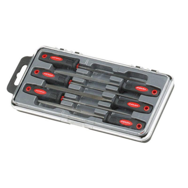 Bộ giũa 6 chi tiết Endura E9033 3x160mm (Đỏ đen)