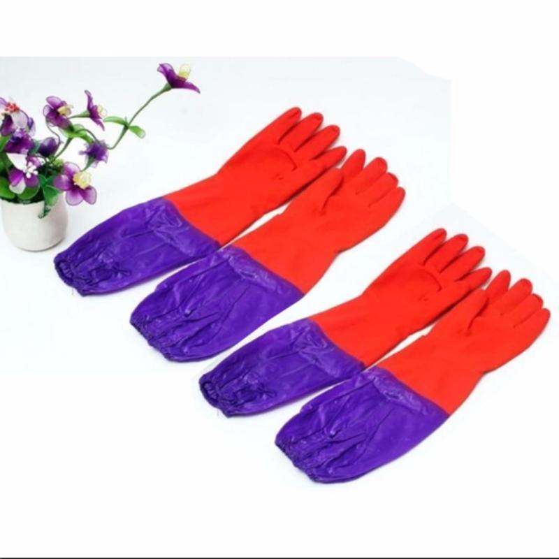 Combo 2 đôi gang tay cao su lót nỉ cao cấp(Red)
