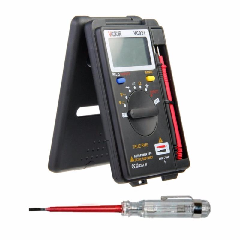 Đồng hồ đo điện tử bỏ túi VICTOR VC921 + Kèm bút thử điện