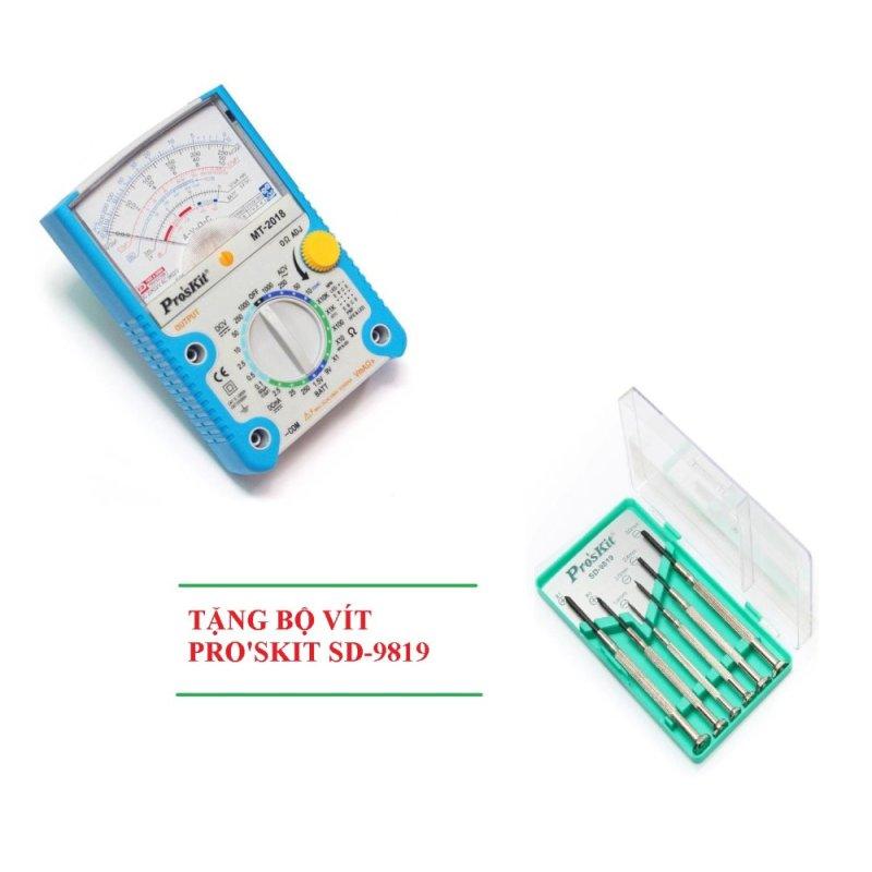 Đồng hồ đo Pro'skit MT-2018 + Tặng bộ vít SD-9819