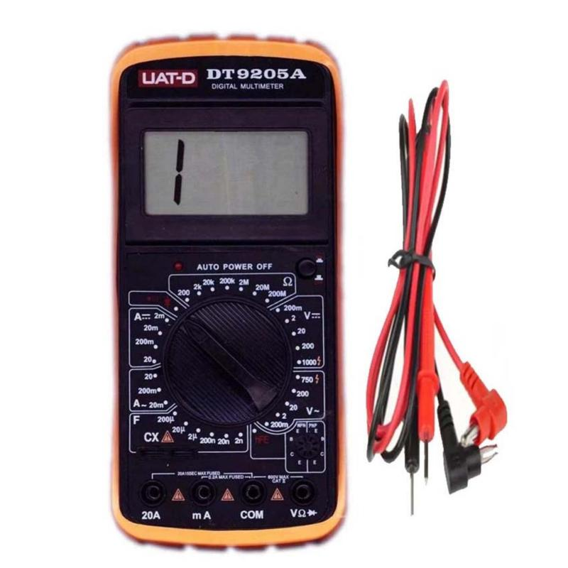 Đồng hồ đo vạn năng Digital Multimeter DT9205A (Đen phối vàng)