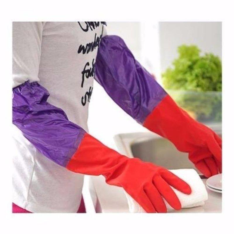 Gang tay rửa bát lót nỉ (Đỏ)