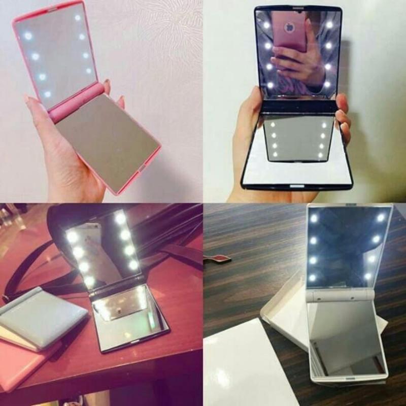 gương mini bỏ túi cá nhân có đèn led sành điệu