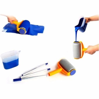 Household multi-function handle paint brush roller brush set - intl