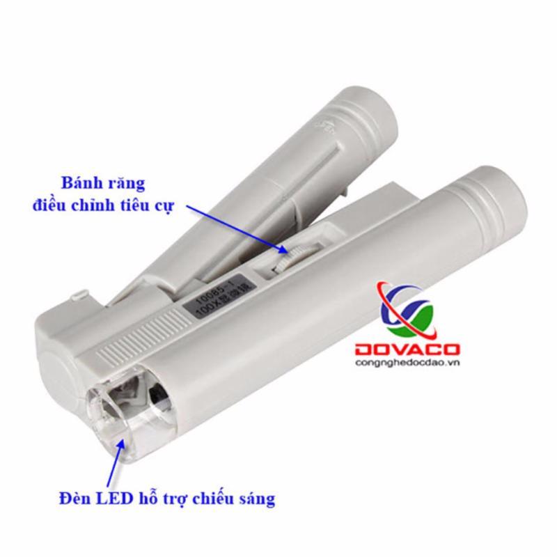 Kính lúp mini 100X có thước đo V2