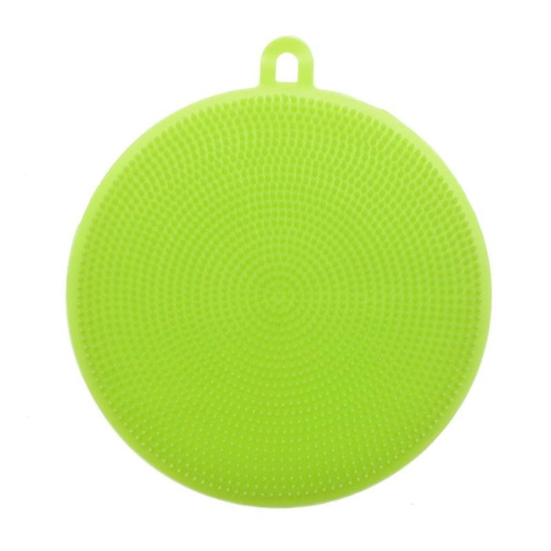 Multifunction Silicone Cleaning Brush Kitchen Pot Washing Tool(Green) - intl