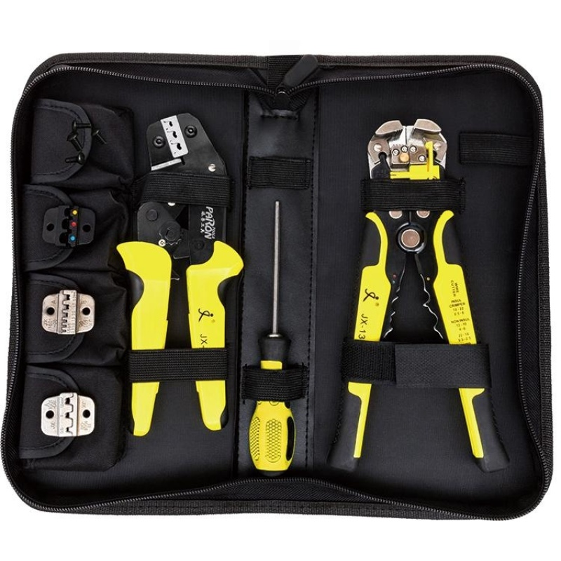 Paron JX-D4301 4 In 1 Ratchet Terminals Crimping Pliers Wire Strippers Tool - intl