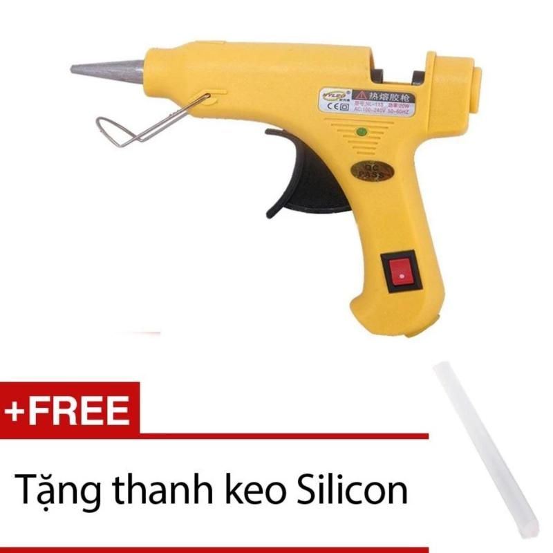 Súng Bắn Keo Silicon Vàng 20W + Tặng 1 Thanh Keo Silicon