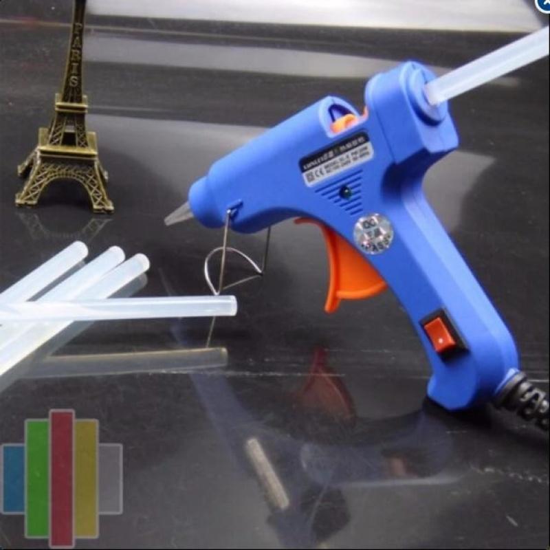 Súng bắn keo tặng 15 keo nến silicon dài 25cm
