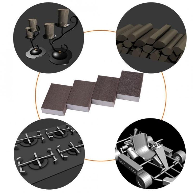 Sweatbuy 5Pcs Grit Sanding Sponge Buffing Polishing Block Pad Sandpaper Abrasive Tool(240-320#) - intl