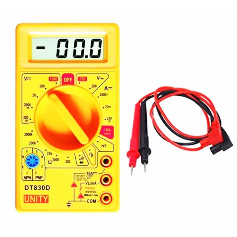 Thiết bị dụng cụ đo điện điện tử  DT-830D (kèm pin trong máy, có đo thông mạch)
