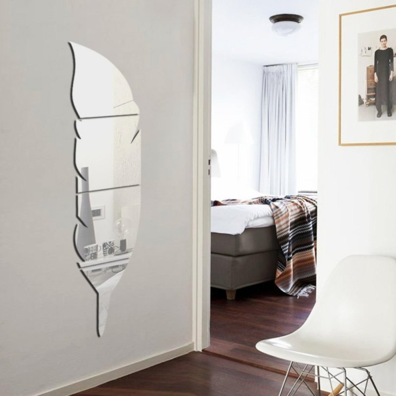 Yika New Removable Home Mirror Wall Stickers Decal Art Vinyl Room Decor DIY - intl