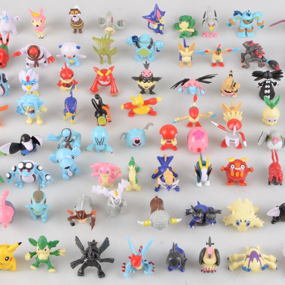 24pcs Hot Cute 5~6cm Pokemon Mini Random Pearl ct Figures Toy Party Gift