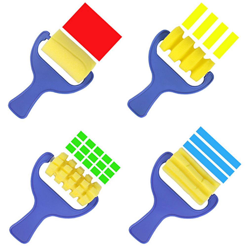 4pcs Sponge Brush Children Graffiti Toy - intl