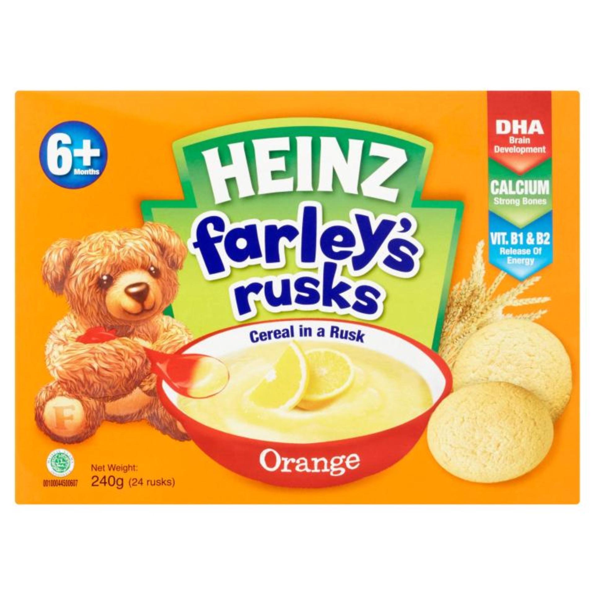 Bánh ăn dặm Heinz Farley cho bé 6m+ vị cam 240g
