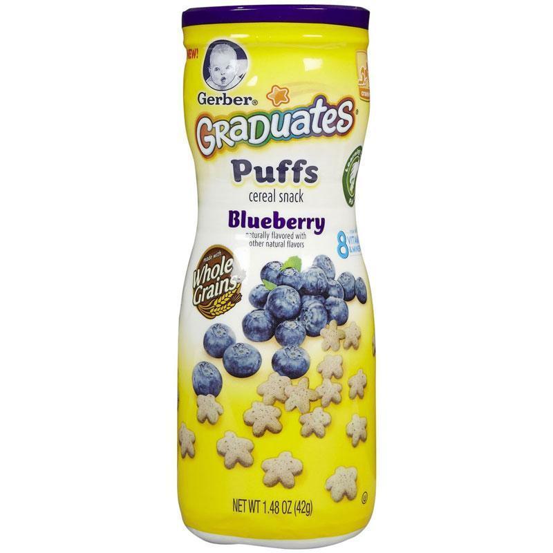 Bánh Gerber Graduates Puffs Blueberry 42g