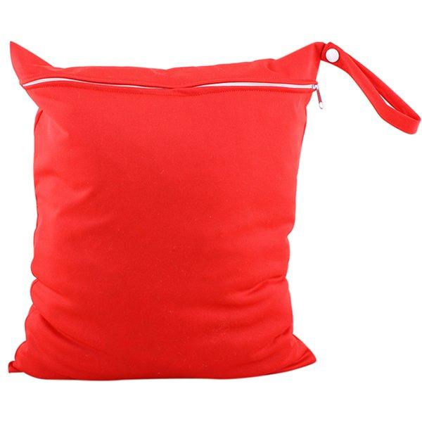 Bluelans Baby Nappy Diaper Bag Reusable Wet Dry Cloth Zipper Waterproof Holder Red (Intl)