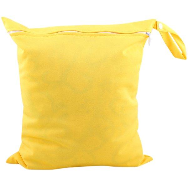 Bluelans Baby Nappy Diaper Bag Reusable Wet Dry Cloth Zipper Waterproof Holder Yellow (Intl)