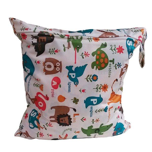 Bluelans Kids Baby Nappy Reusable Washable Wet Dry Cloth Waterproof Diaper Bag (Intl)