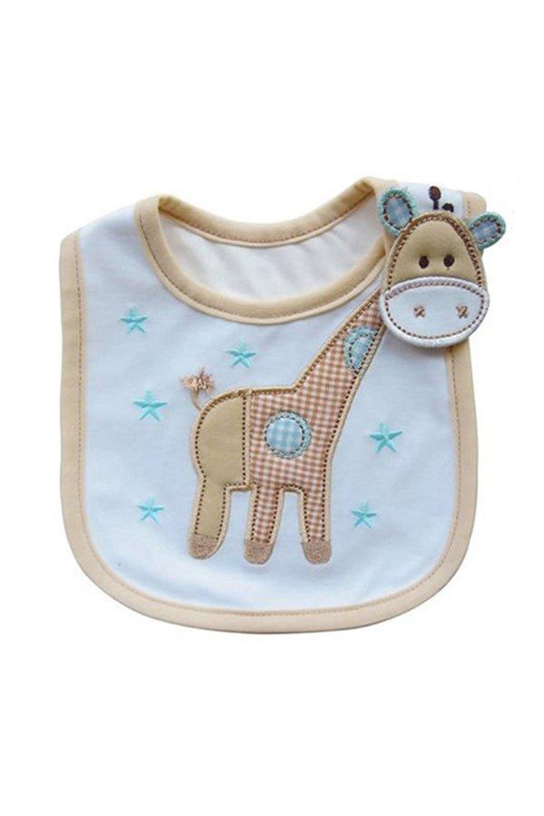 Bluelans Kids Giraffe Pattern Bib (Intl)