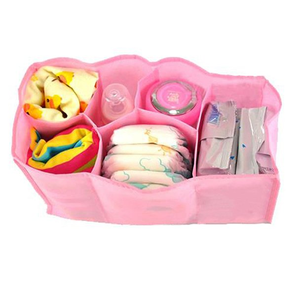 Bluelans Mother Bag Large Travel Nappy Bag For Storage Baby Diaper Nappies Pink Size M (Intl)