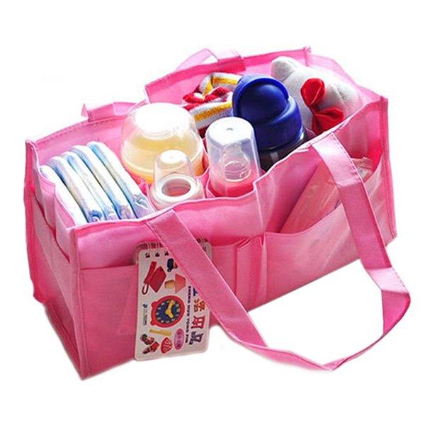 Bluelans New Baby Diaper Nappy Mother Bag Portable Handbag Pink (Intl)