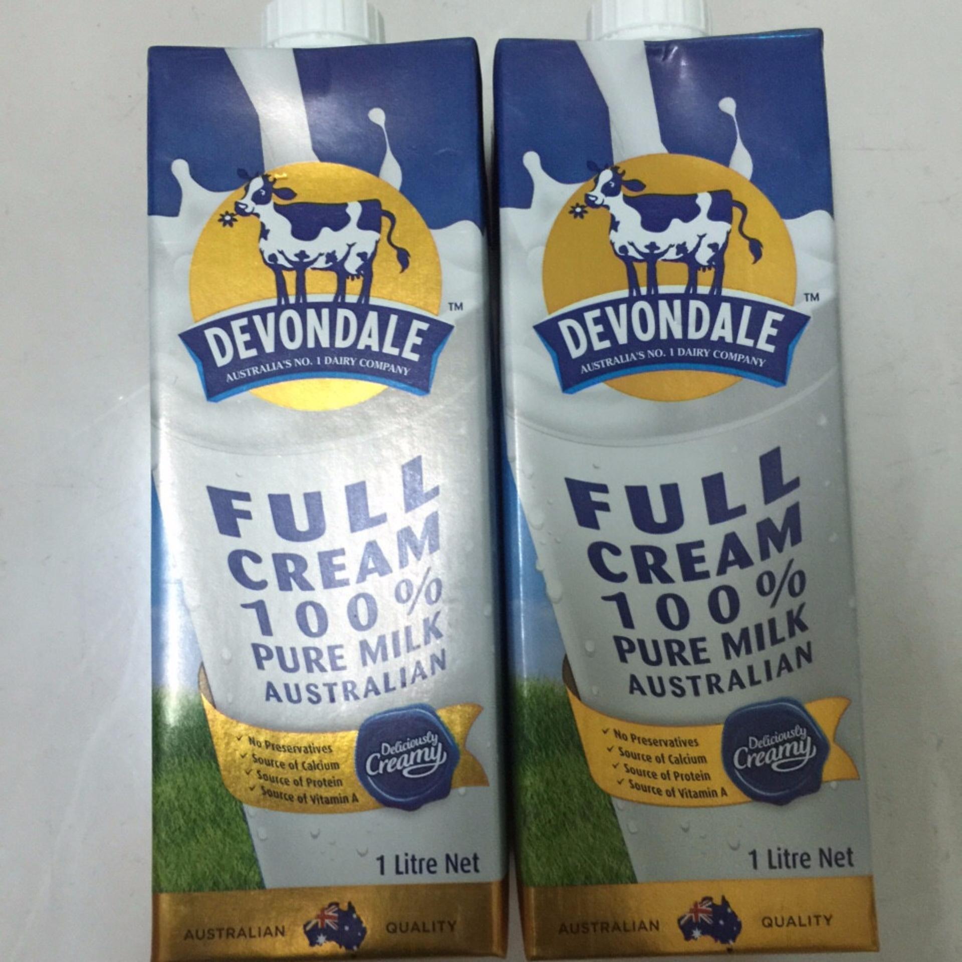 Bộ 02 Hộp Sữa Fullcream Devondale 1lit