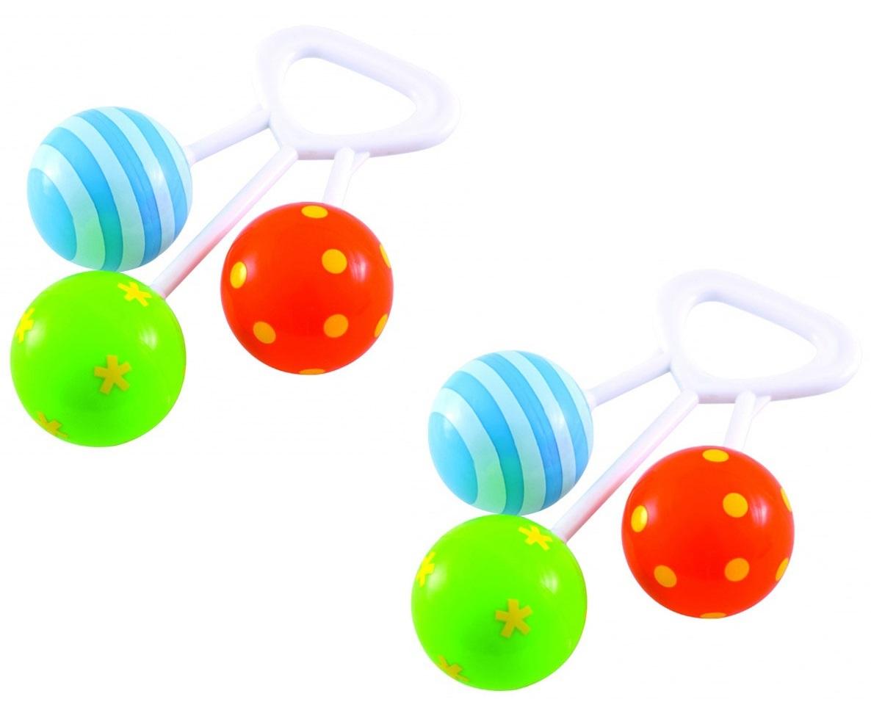 Bộ 2 đồ chơi xúc xắc có miếng cắn răng hình bong bóng Canpol Babies 2/664