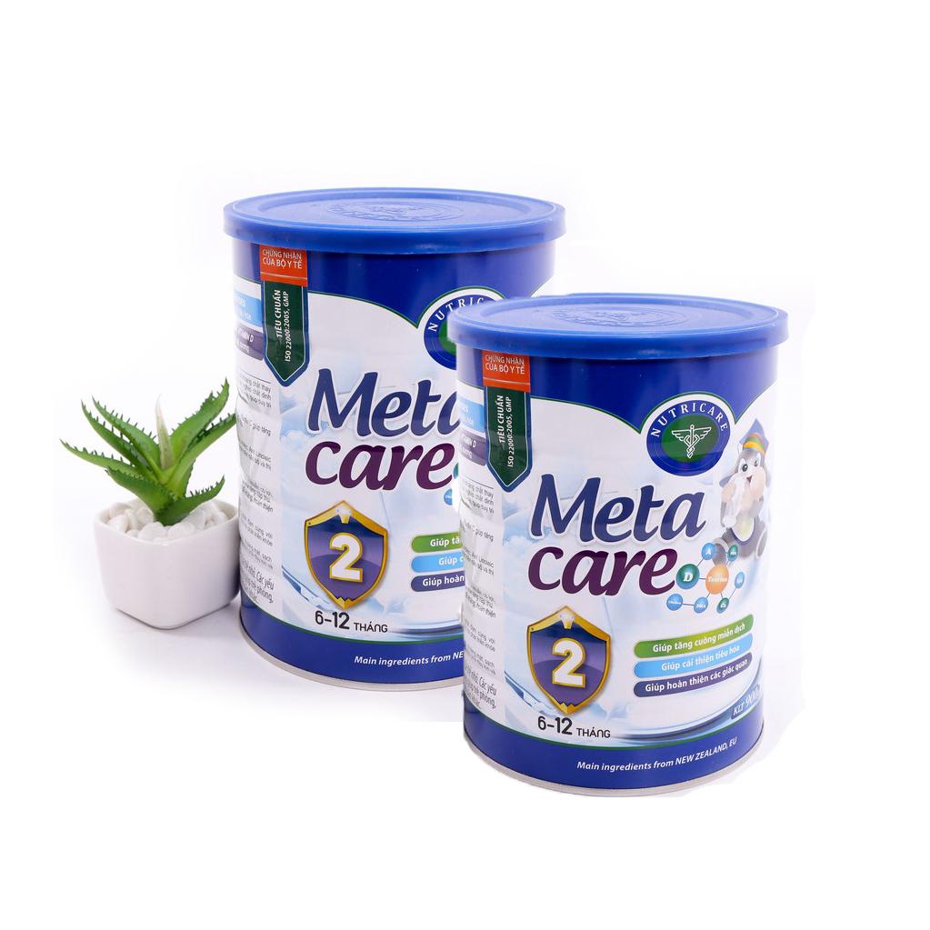 Bộ 2 hộp Sữa Meta Care 2 900g