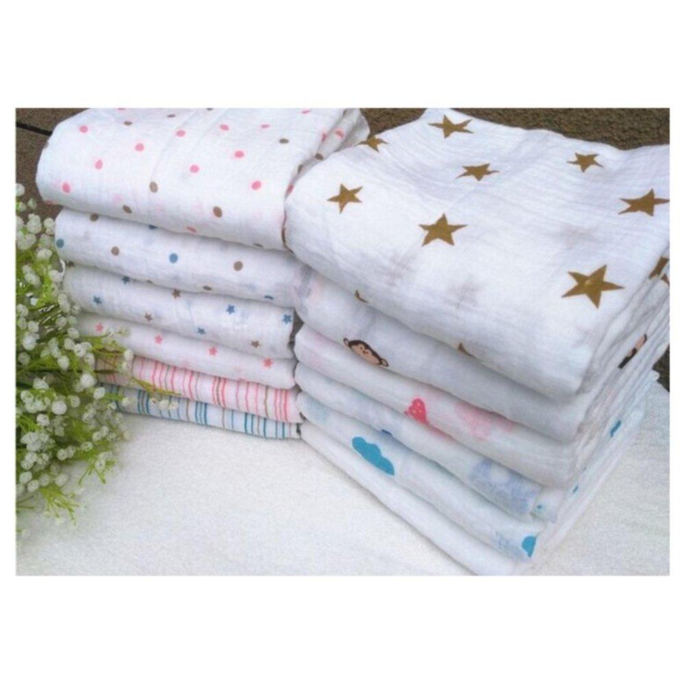 Bộ 2 khăn tắm sợi tre đa năng A&A cho bé trai