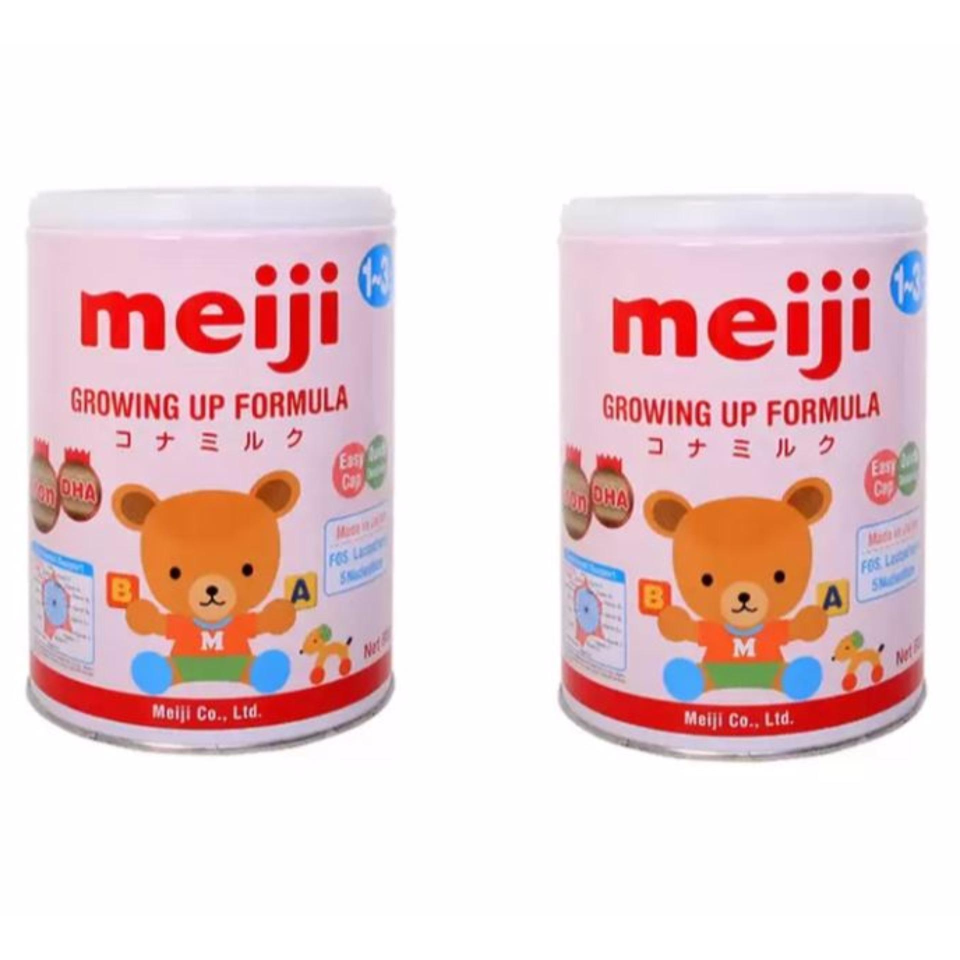 Bộ 2 sữa Meiji 1-3 tuổi Growing up Formula 800g