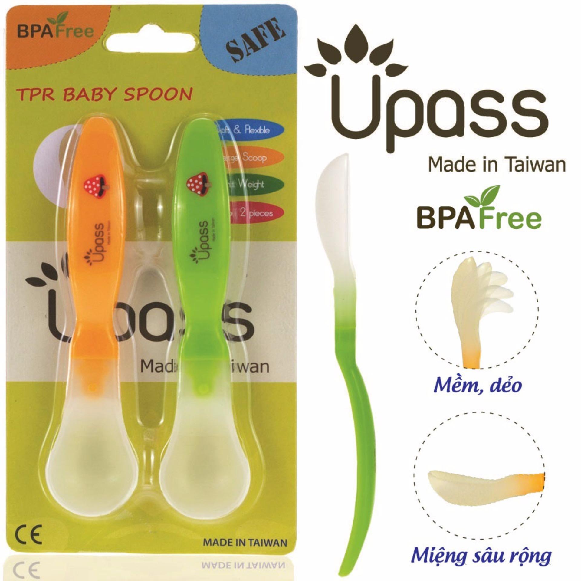 Bộ 2 thìa ăn dặm siêu mềm không BPA Upass UP3007XC