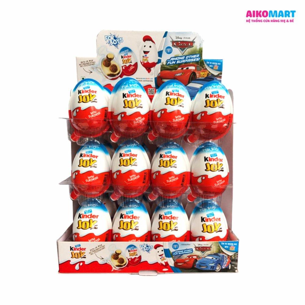 Bộ 24 trứng Sô cô la Kinder Joy bé trai ( Xanh )