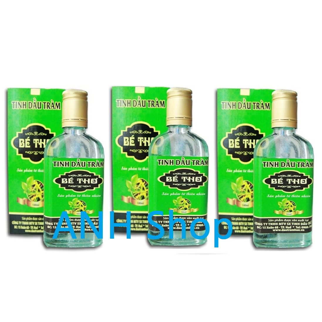 Bộ 3 Chai Tinh dầu tràm nguyên chất Bé Thơ 100ml_ANH Shop